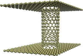 two graphene walls connected by a carbon nanotube